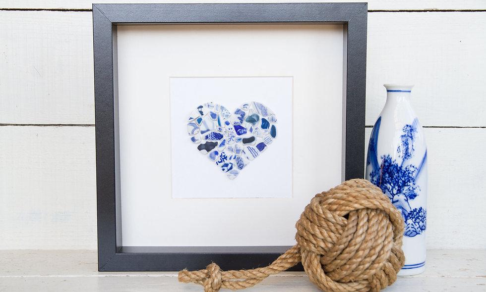 Japanese Sea Pottery - Mosaic Heart