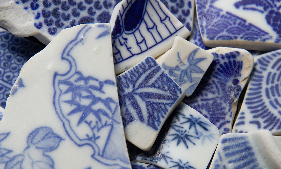 Japanese Bamboo Sea Pottery Print