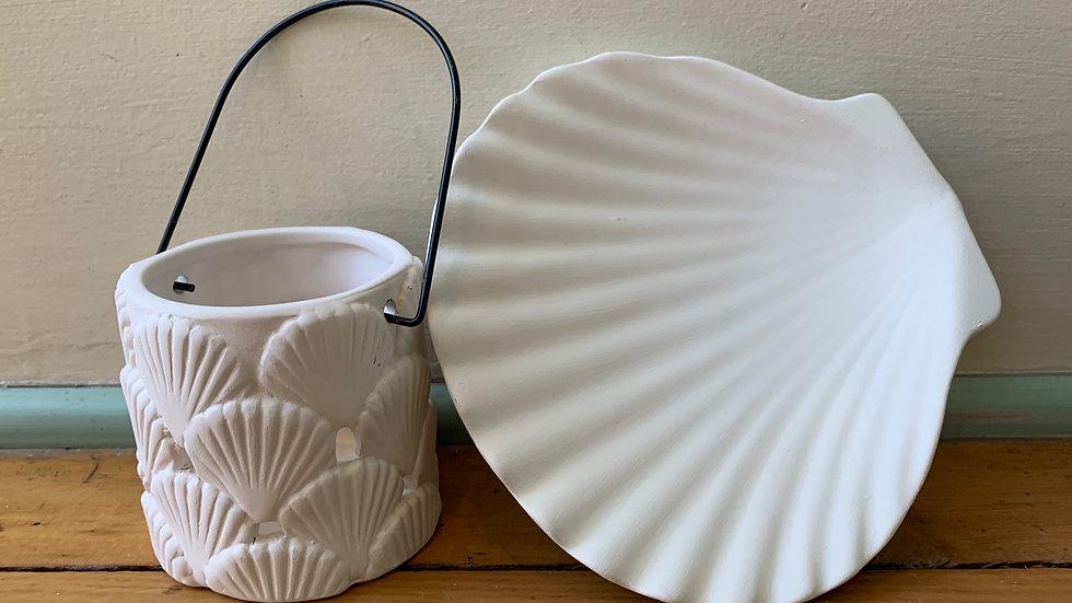 Shell Dish and Shell Lantern