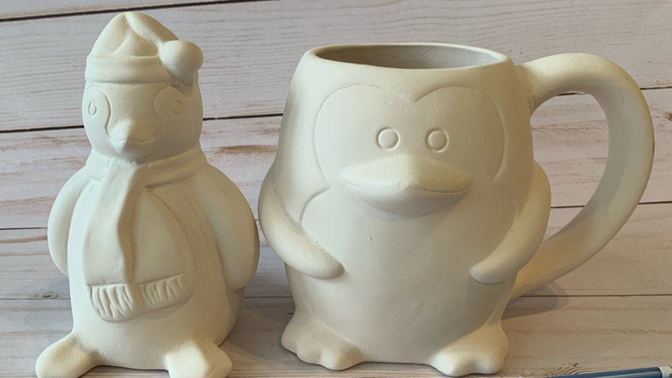 Penguin Mug and Penguin Figure