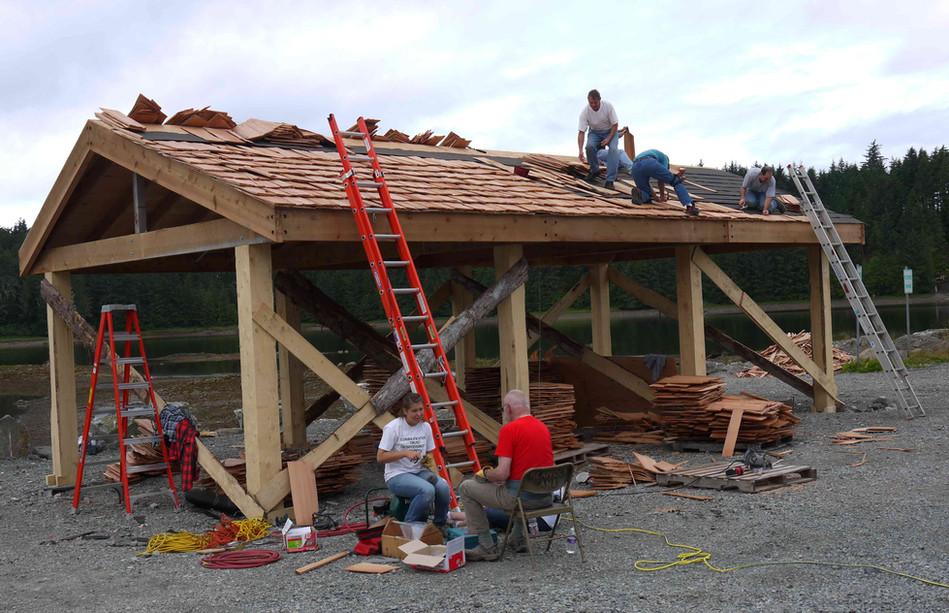 Canoe Pavilion under construction in Klawock