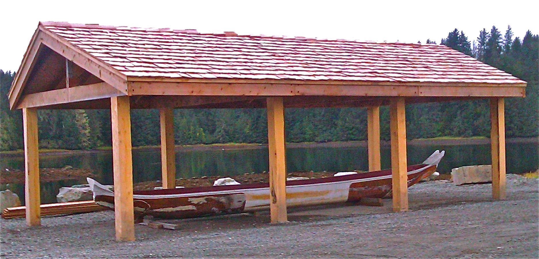 Finished Canoe Pavilion