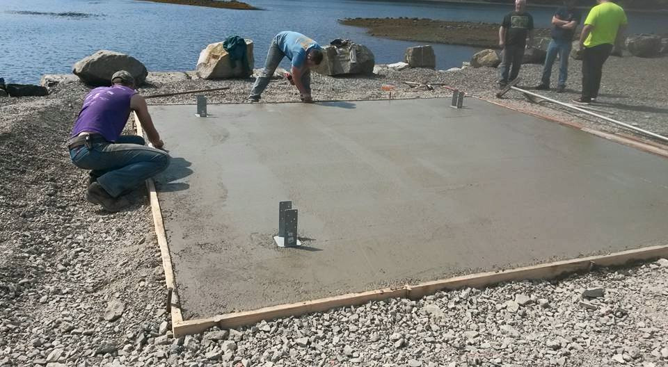 Foundation Slab for the Bell Tower in Klawock