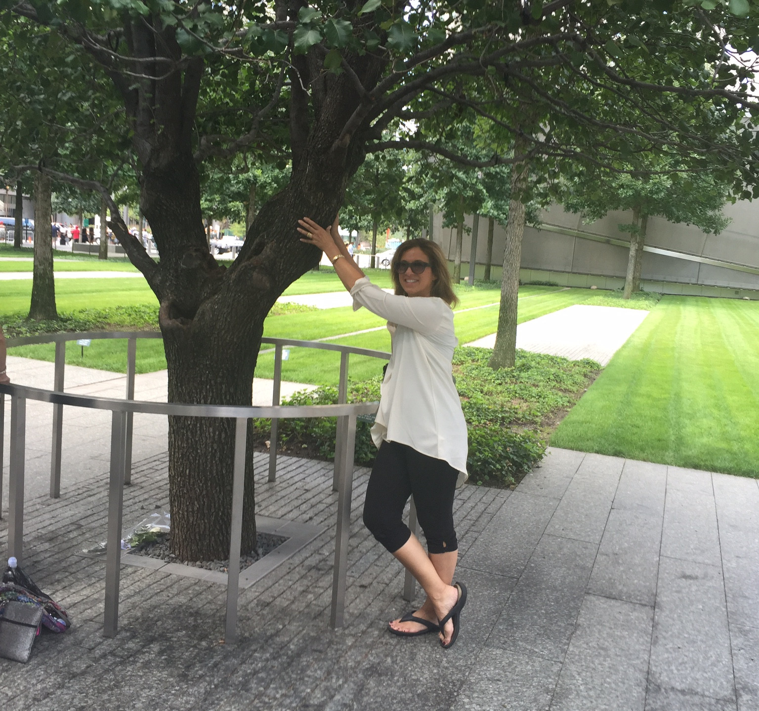 Only one tree survived 911 and I gave it a big hug.