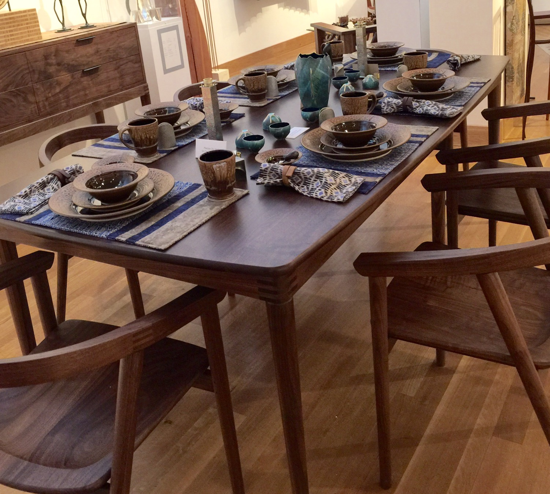 Beautiful hand made furniture and tableware.