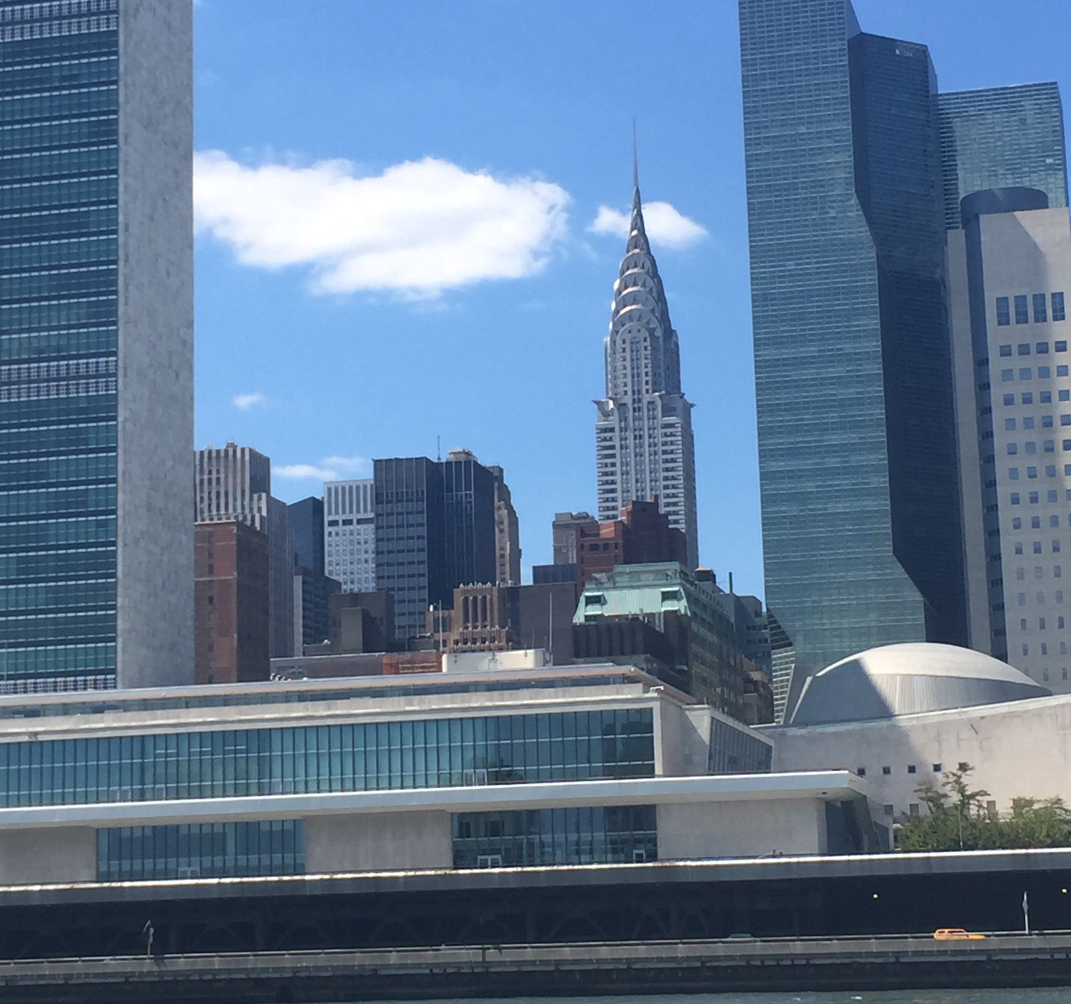 As we travel downtown I noticed the Chrysler Building.