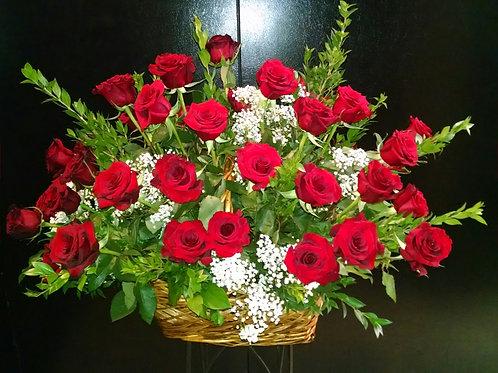 Basket - Roses