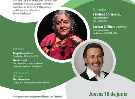 Presentación de la Maestría en Derechos de la Naturaleza y Justicia Intercultural