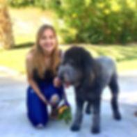 Jacklyne and her dog, Addison