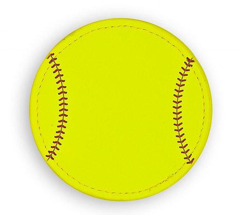 Softball Coaster