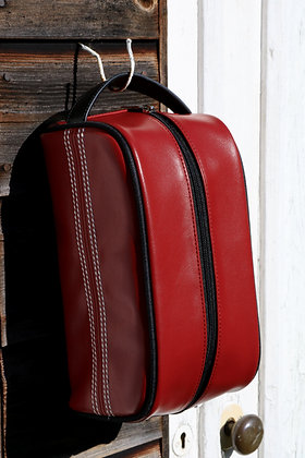 Cricket Red Toiletry Bag 🏏