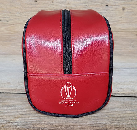 ICC CWC 2019 Cricket Red Toiletry Bag