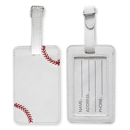 Baseball Luggage Tags