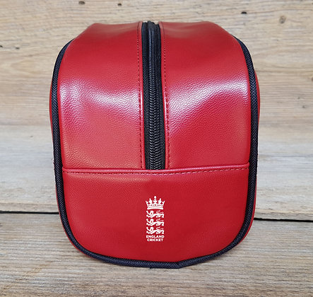 England Cricket Red Toiletry Bag