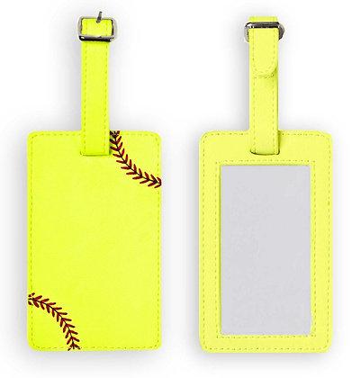 Softball Luggage Tags