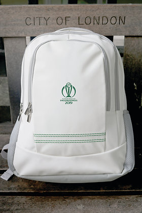 ICC CWC 2019 Cricket White Rucksack