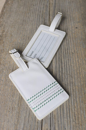 Cricket White Luggage Tags 🏏