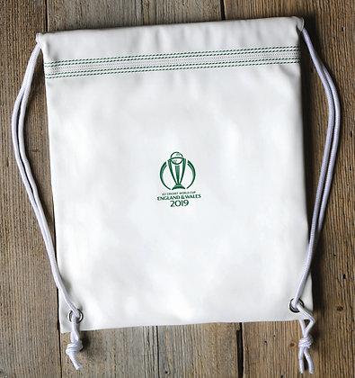 ICC CWC 2019 Cricket White Drawstring Bag