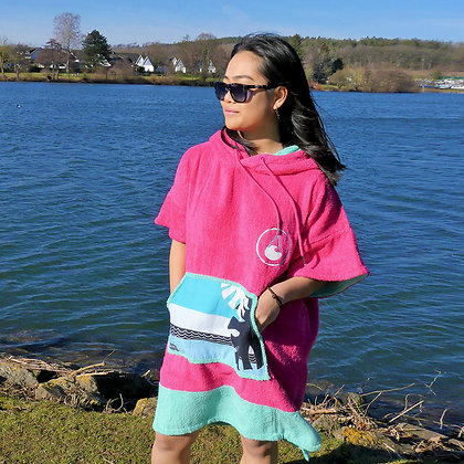 Wave Style Poncho PINK WAVE