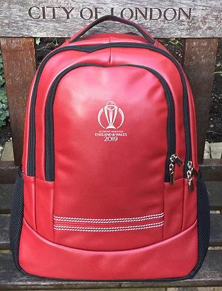 ICC CWC 2019 Cricket Red Rucksack
