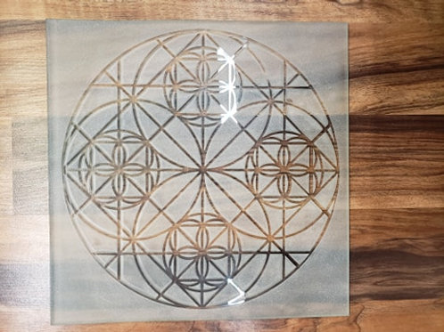 Reverse etched glass - Circles