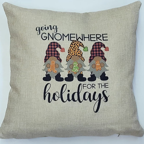 Going Gnomewhere Pillow Cover