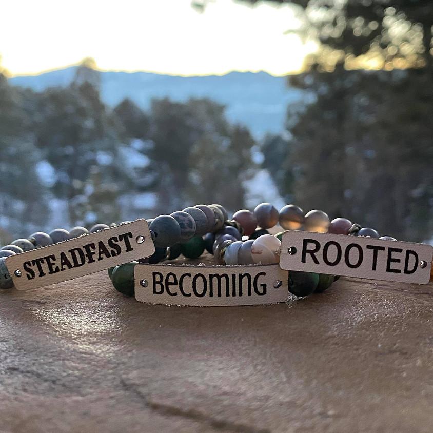 Word Bracelet with Earrings
