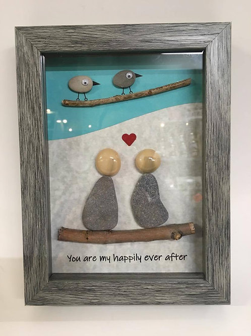 'You are my happily ever after' rock art