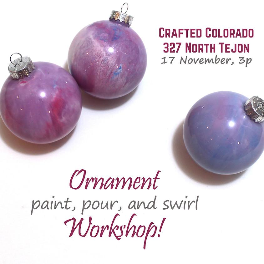 Paint Pouring Ornament Workshop