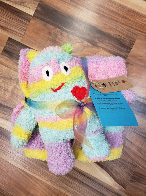 Worry Monster Friend and Blanket