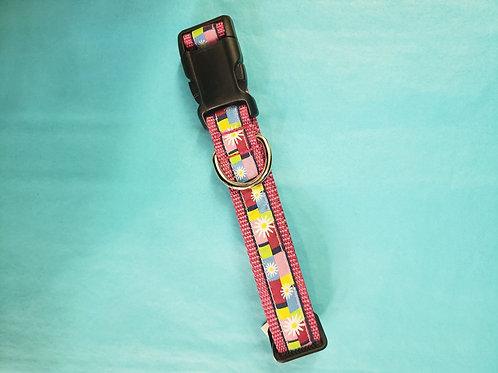 Dog Collar - Pink Flowers