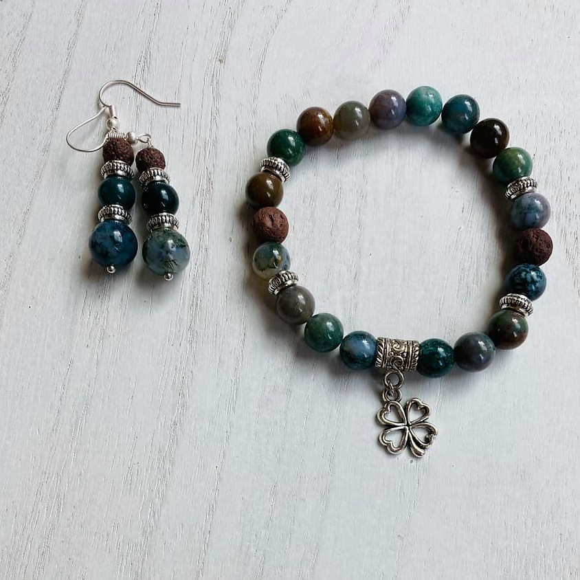 Diffuser bracelet and earring set make and take