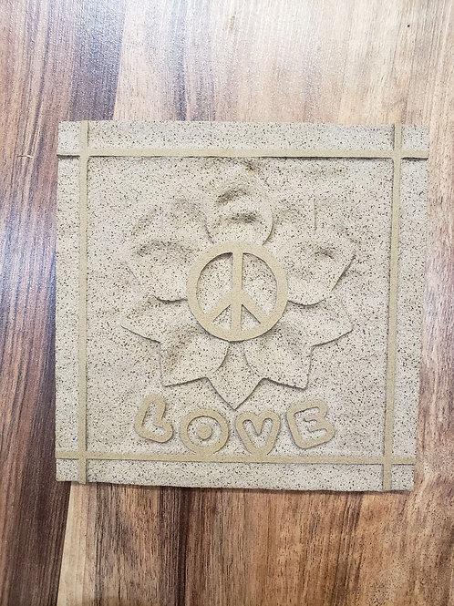 Large reverse-etched tile