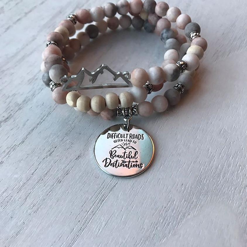 Mountain Diffuser bracelet make and take