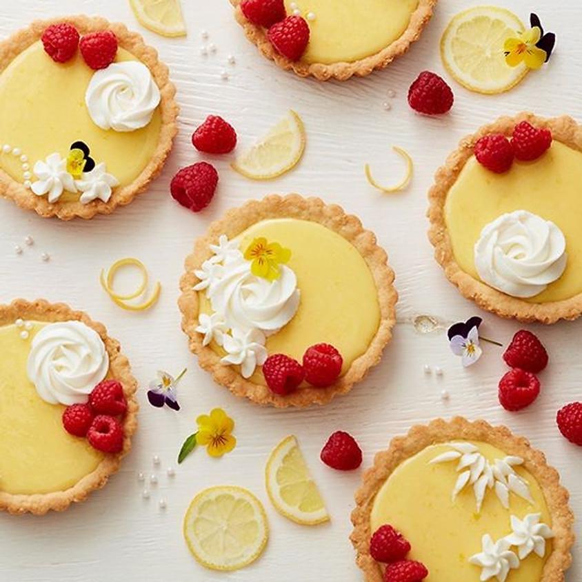 Lemon Raspberry Tart baking class