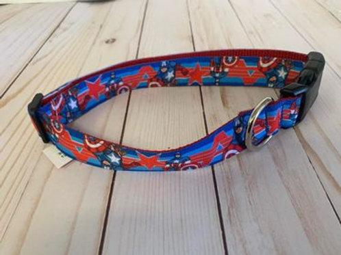 Captain America Large Dog Collar