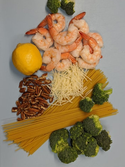 Shrimp Pesto Pasta from the SourPatchChef