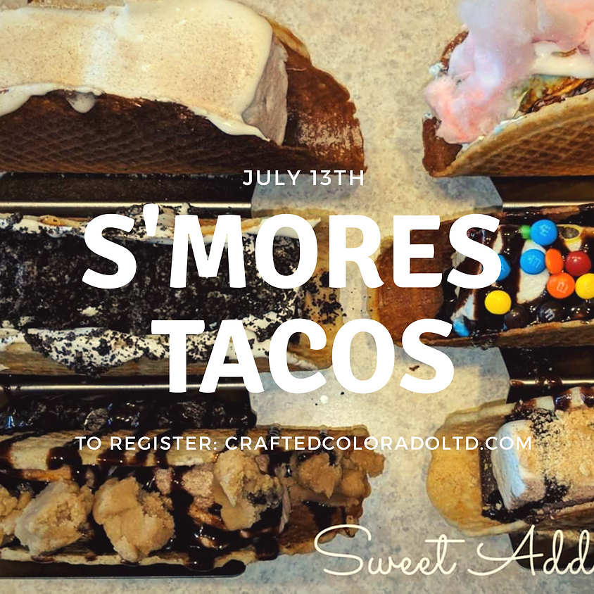 S'mores Tacos!  Make marshmallows, wafflecone shells and all the toppings!