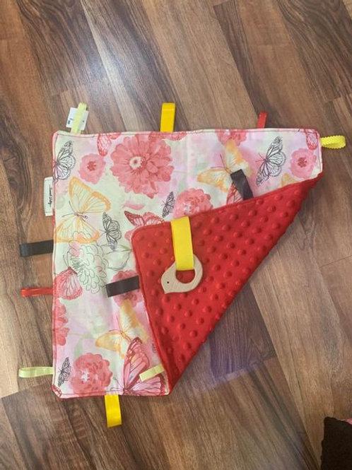 Handmade soft fabric baby blanket - floral print