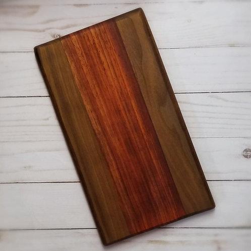 Small Walnut & Padauk Wood CHEESE BOARD