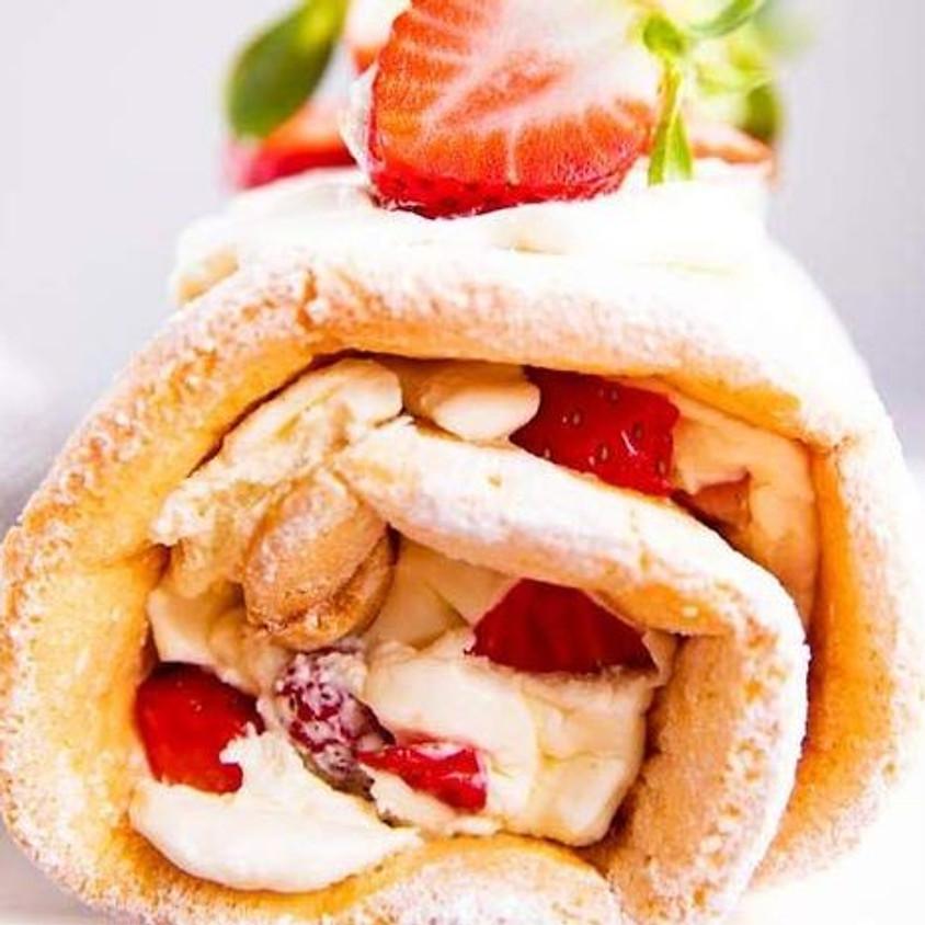 Strawberry Cheesecake Roll Cake baking class
