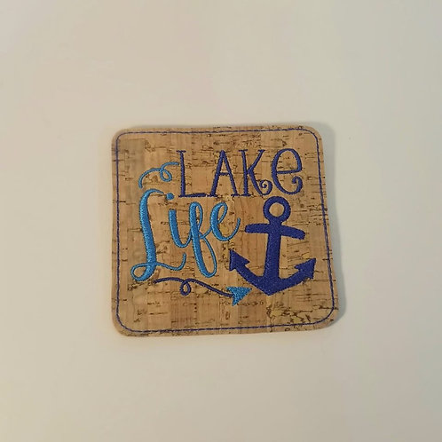 CORK COASTER-Lake life!