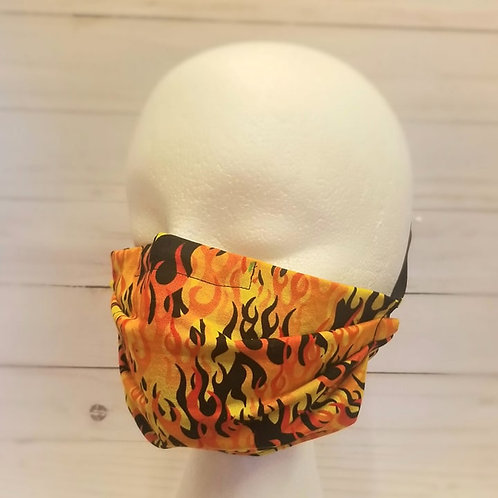 PLEATED FACE MASK-flame