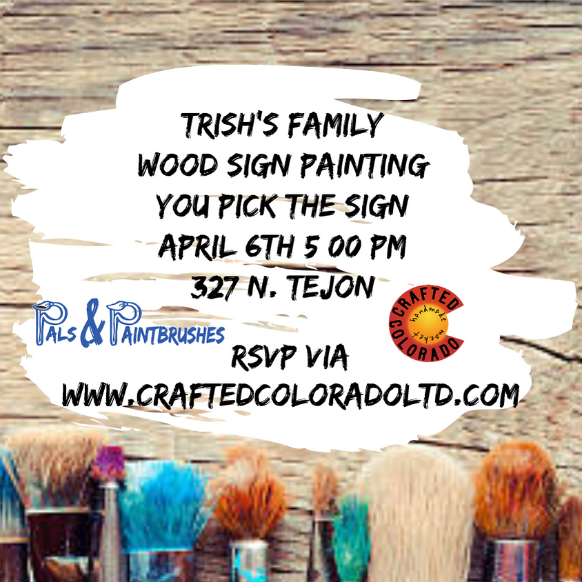 Trish's Family Wood Sign Painting