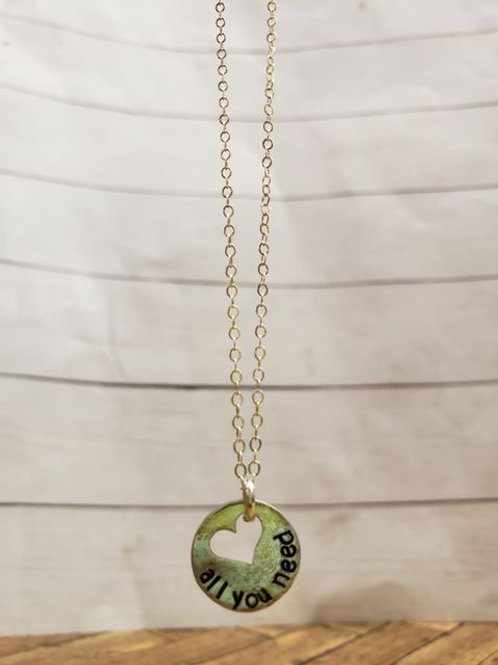 All you need is love - sterling silver necklace