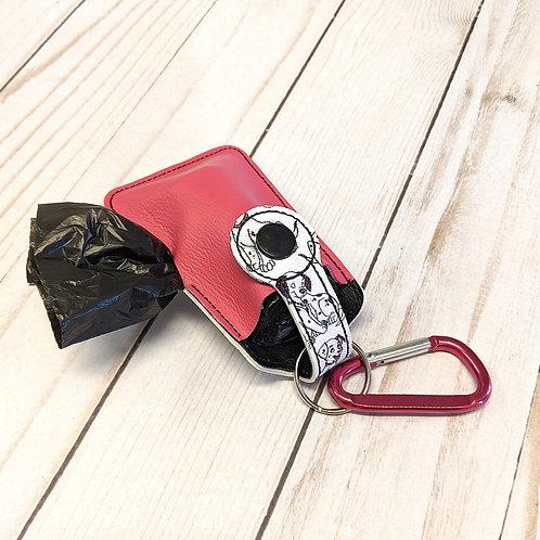 Faux Leather Dog Potty Bag Holder