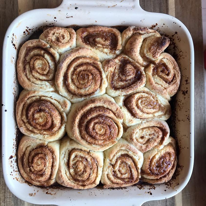 Gluten Free Cinnamon Roll Baking Class
