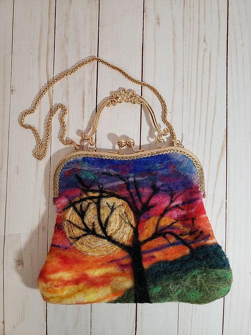 Unique needle-felted purse (large)