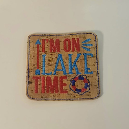 CORK COASTER-Lake time!