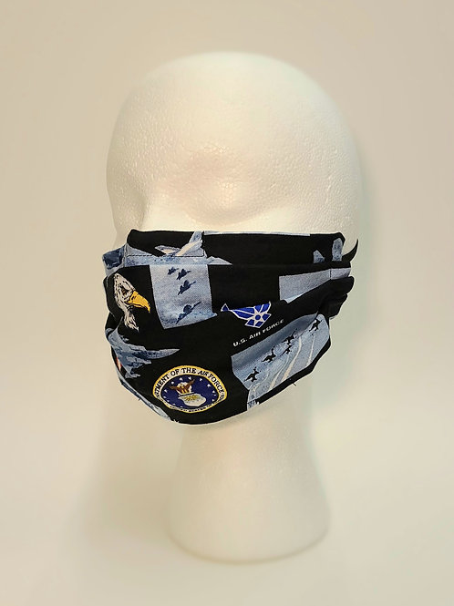 PLEATED FACE MASK-Air Force